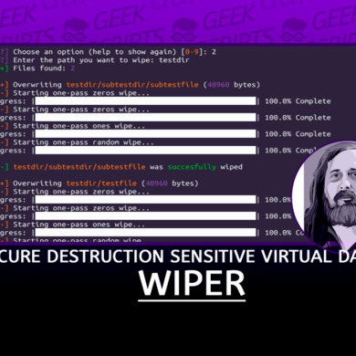Wiper Secure Destruction of Sensitive Virtual Data