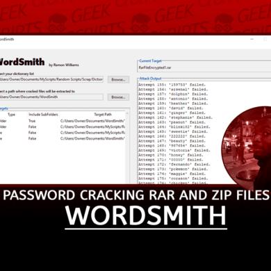 WordSmith Password Cracking RAR and ZIP Files
