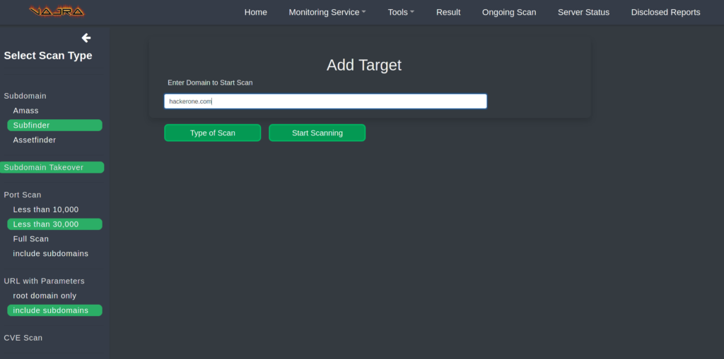 Automated web hacking framework for web applications