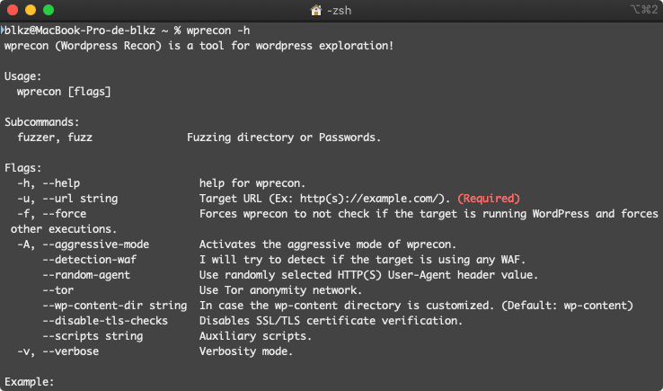 Help command WPrecon