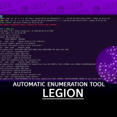 LEGION Automatic Enumeration Tool