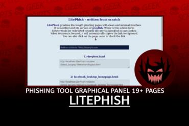 LitePhish Phishing Tool with Graphical Panel 19 Templates