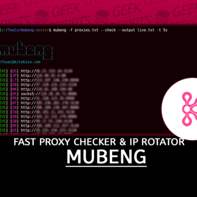 Mubeng Fast Proxy Checker & IP Rotator