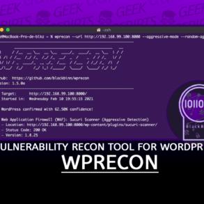 WPrecon Vulnerability Recognition Tool for WordPress