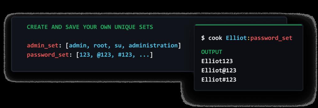 Create your own unique sets