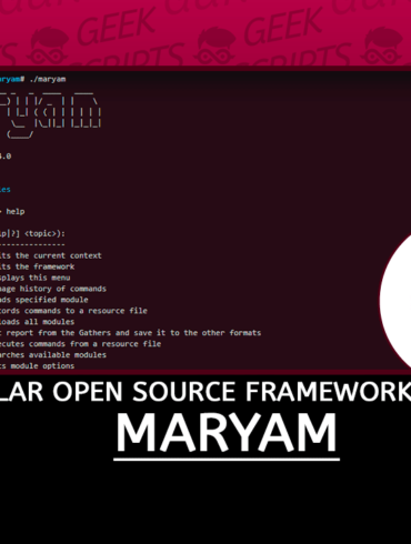 Maryam Modular Open Source Framework based on OSINT