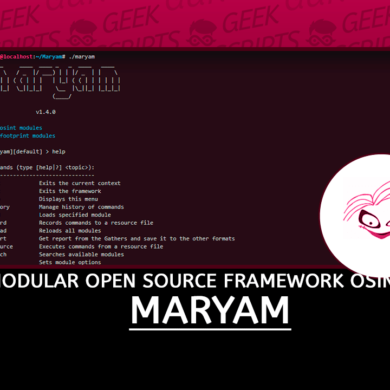 Maryam Modular Open Source Framework based on OSINT