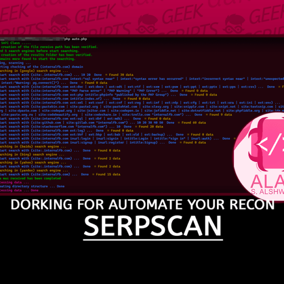 SerpScan Dorking for Automate your Reconnaissance