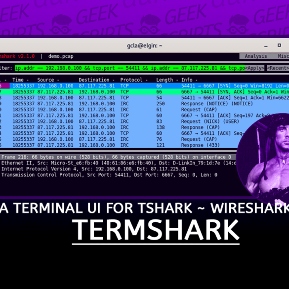Termshark A terminal UI for tshark inspired by Wireshark