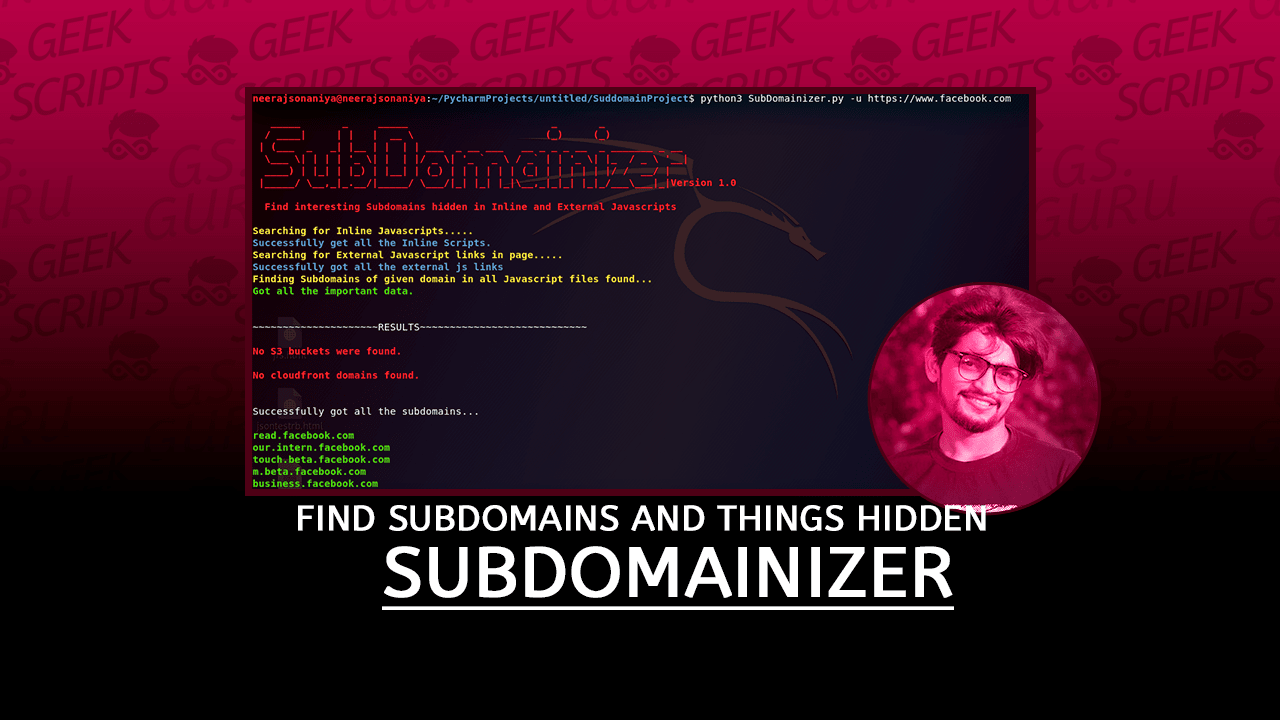 SubDomainizer Tool to Find Subdomains and Things Hidden