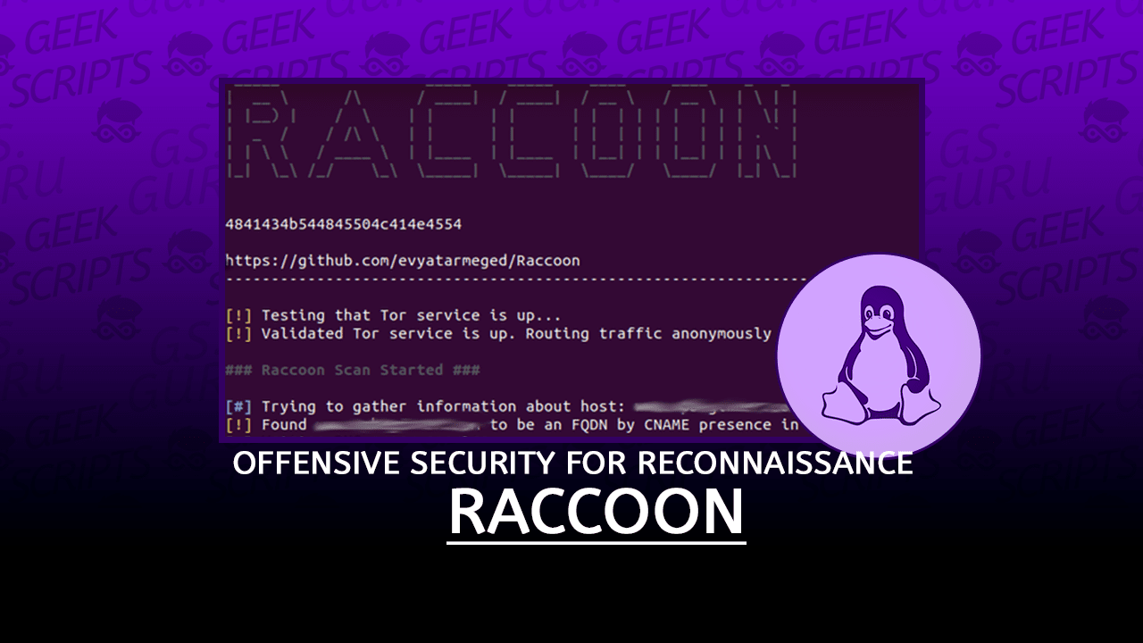 Raccoon Offensive Security Tool for Reconnaissance