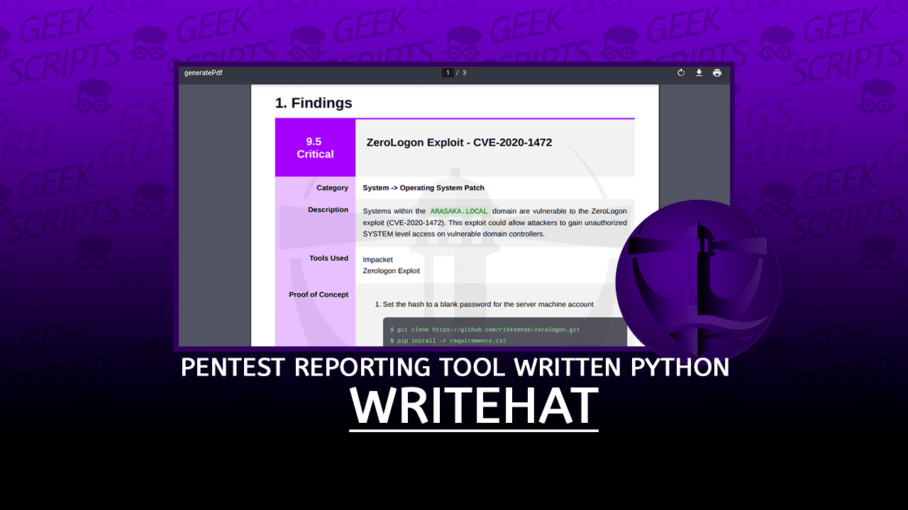 WriteHat Pentest Reporting Tool written in Python