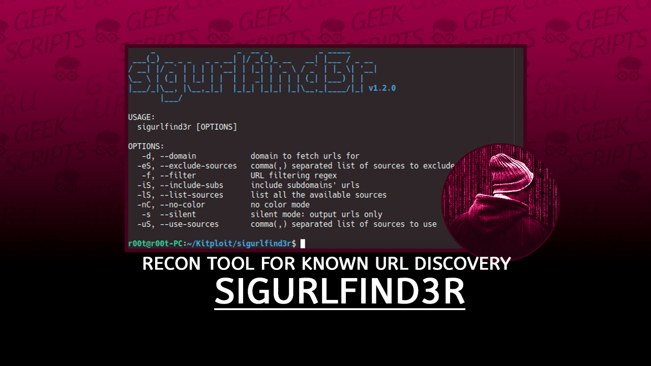 sigurlfind3r A Passive Reconnaissance Tool for known URLs Discovery