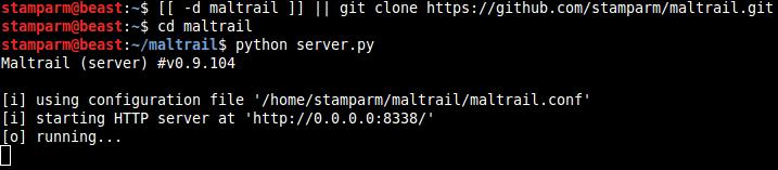 Start Server for maltrail